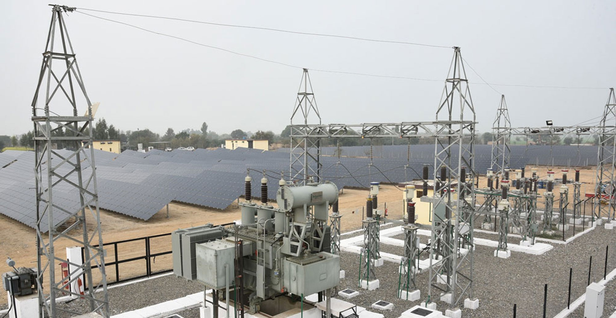 How Solar Power Is Connected To The Grid Electrical Review Schematic Wiring Diagram As Well Inverter Heres Case Study On A 50 Mw Project By Hartek In Andhra Pradesh