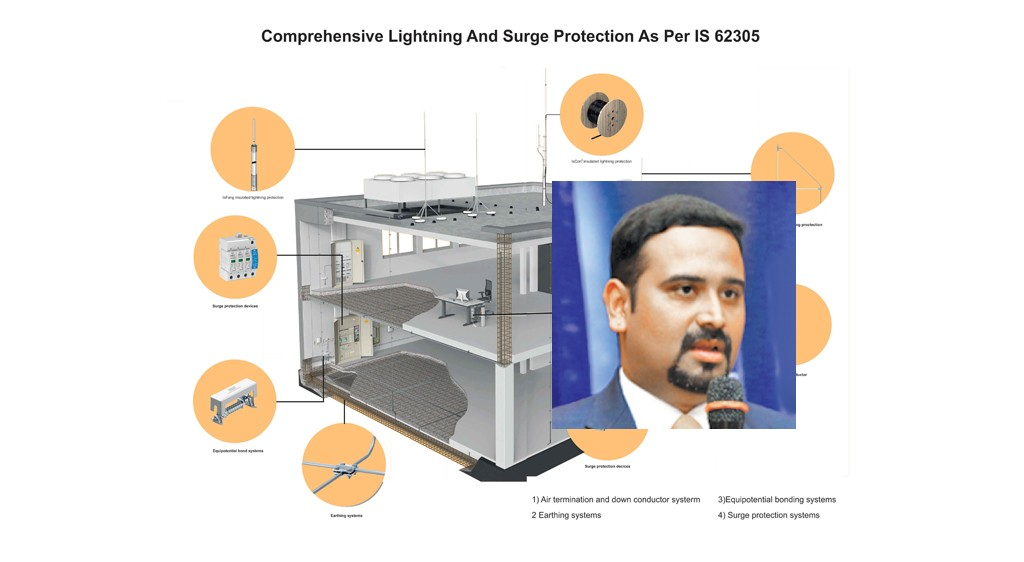 Design Guidelines For Proper Lightning Protection System As Per Is Iec 62305 Electrical Power Review Elecrama 2018